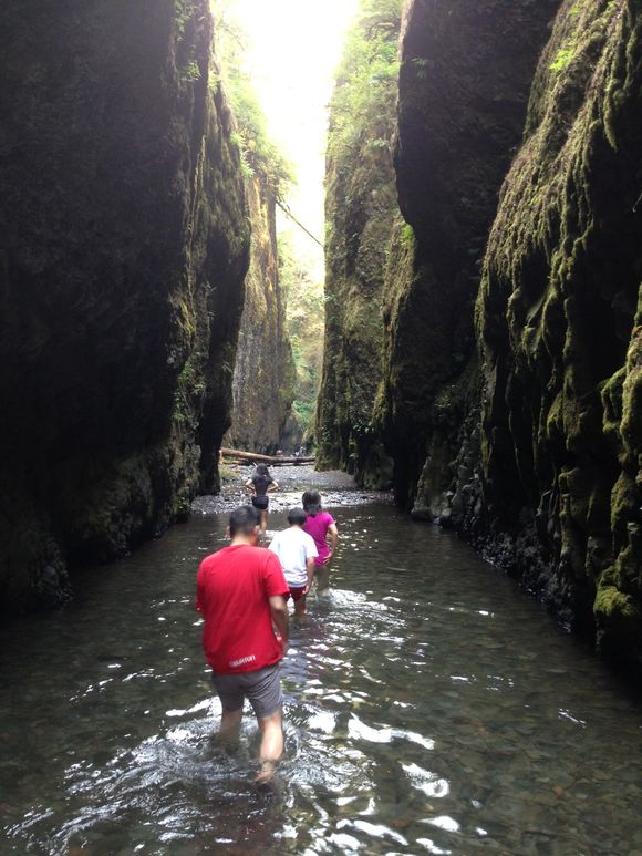 Exploring the gorge...