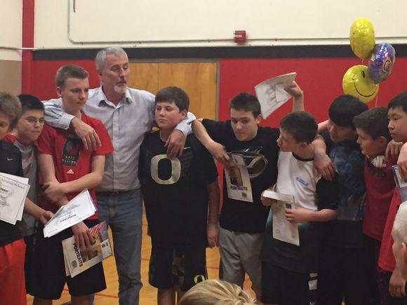 Randy gets basketball MVP!